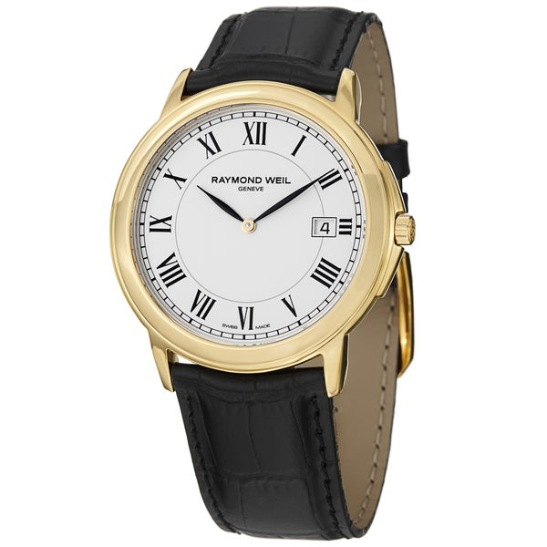 Raymond Weil Men's Tradition Leather Strap Watch. Opens flyout.