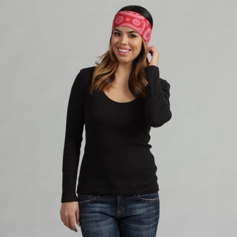 Obersee Adult Rag Tops Red Paisley Convertible Headwear