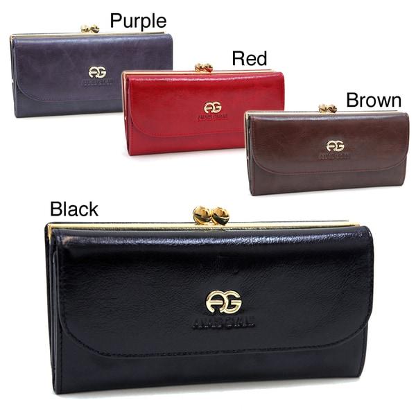 Anais Gvani Women's Genuine Italian Leather Tri-fold Wallet