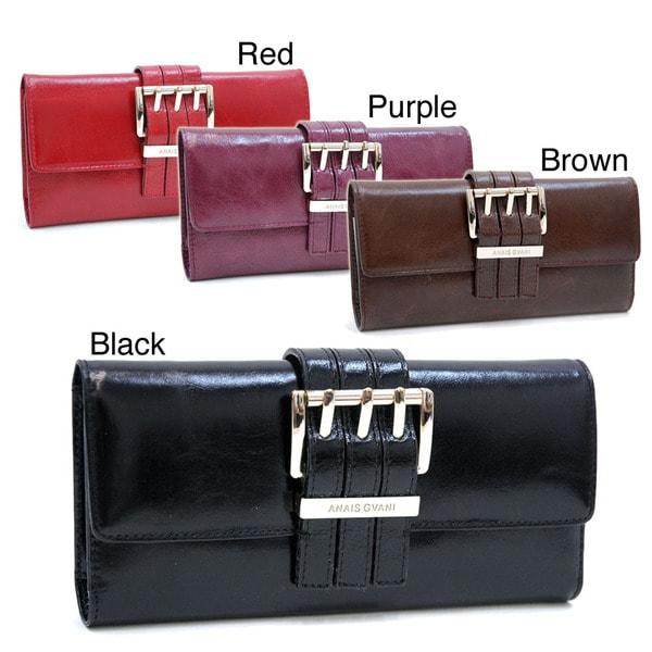Anais Gvani Genuine Italian Leather Checkbook Wallet