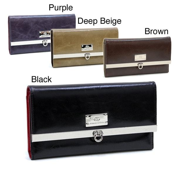 Women's Genuine Italian Leather Checkbook Wallet