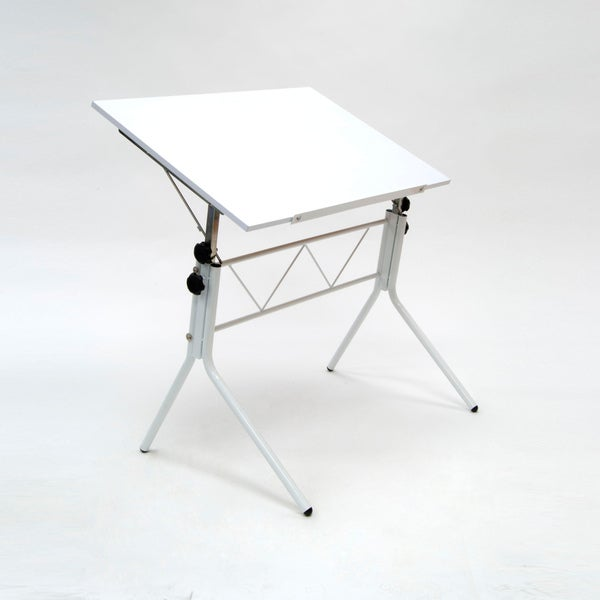 Studio Designs White Flex Drafting Table with Adjustable Height