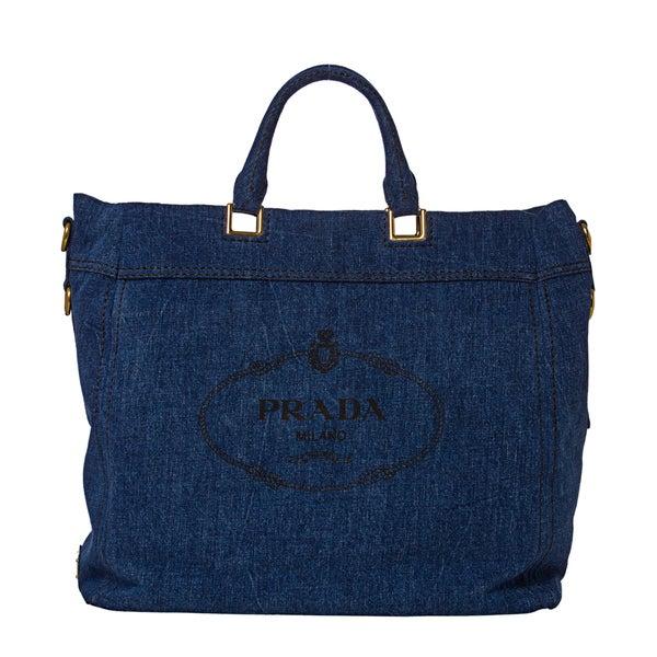Prada Denim Tote Bag