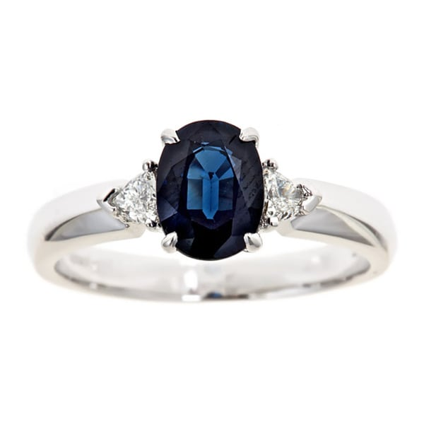 D'yach 18k Gold Sapphire and 1/5ct TDW Diamond Ring (G-H, I1-I2)