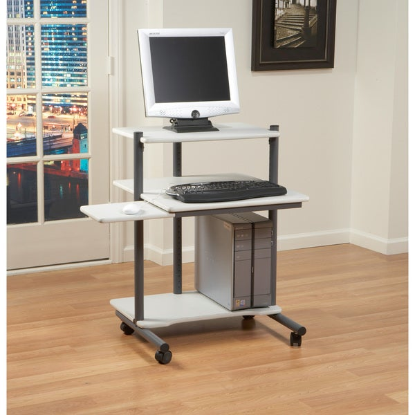 Studio Designs 24 inch Pewter/ Gray Computer Workstation Desk