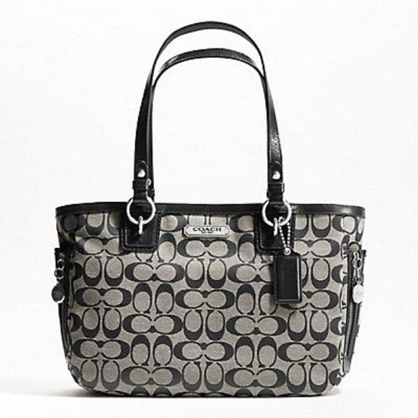 coach black and gray purse ywq4  coach black and gray purse
