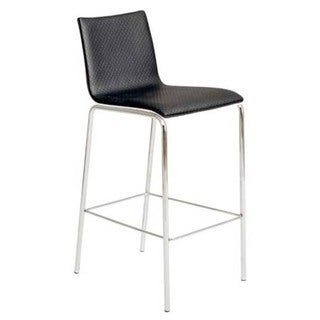 Carisa Leatherette Bar Chairs (Set of Two)