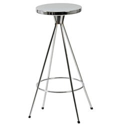 Caroline 26-inch Chrome Swivel Counter Stool (Set of 2)