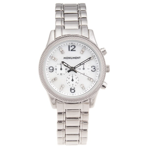Monument Women's 'Sporty' Stainless Steel Silvertone Watch