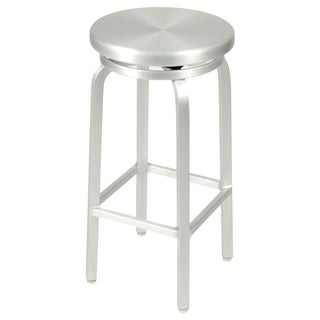 Miller 30-inch Matte Aluminum Bar Swivel Stool