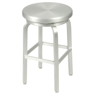 Miller 24-inch Matte Aluminum Counter Swivel Stool