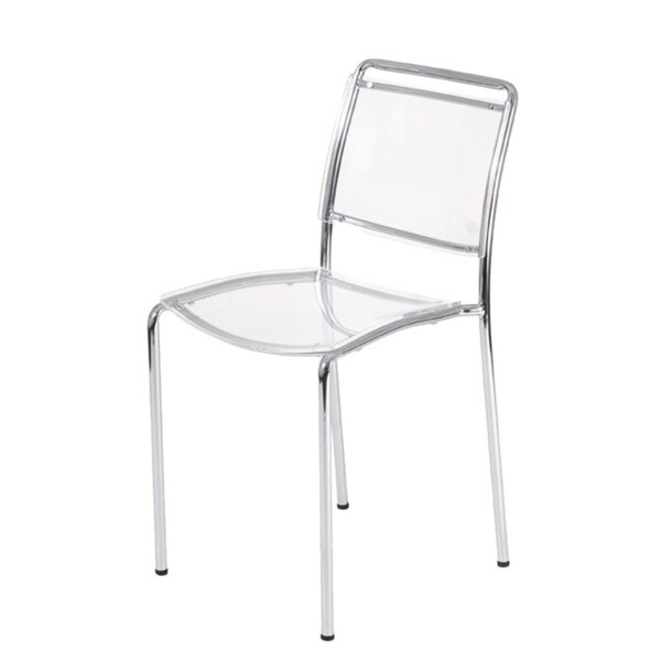 Stefie Clear Pro Stack Chairs (Set of 4)
