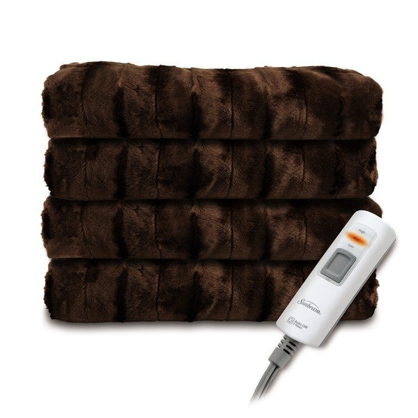 Faux Fur Heated Throw