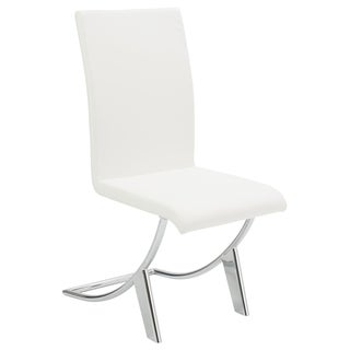 Cordelia White/ Chrome Modern Dining Chair (Set of 4)