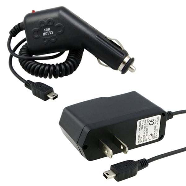 BasAcc Car Charger/ Travel Charger for Motorola Razr V3