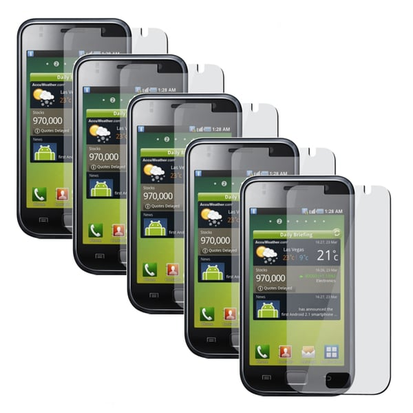 INSTEN Clear Screen Protectors for Samsung Galaxy S GT-i9000 (Pack of 5)