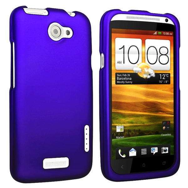 BasAcc Blue Snap-on Rubber Coated Case for HTC One X