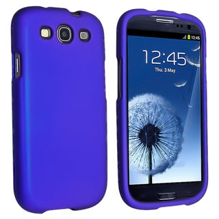 INSTEN Blue Snap-on Rubber Coated Phone Case Cover for Samsung Galaxy S III/ S3