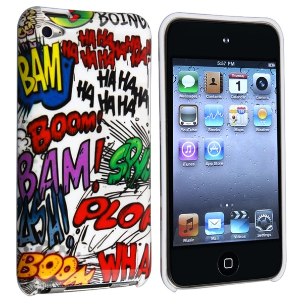 INSTEN HAHA Rear Snap-on iPod Case Cover for Apple iPod Touch 4th Generation