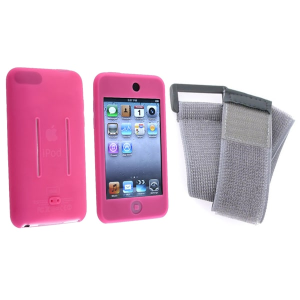 BasAcc Pink Silicone Case/ Armband for Apple iPod Touch 2nd Generation
