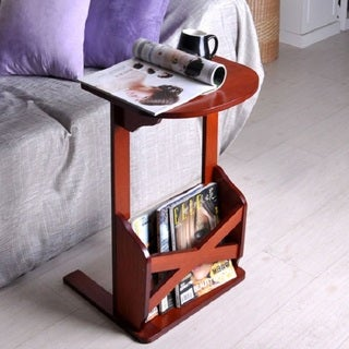 Cappuccino Finish Laptop Reading Desk Sofa Table