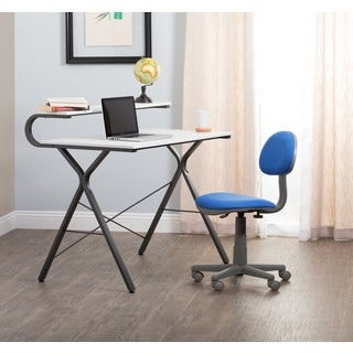 Calico Designs Blue/ Grey Adjustable-seat Deluxe Office/ Task Chair