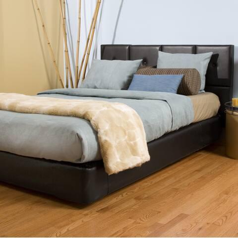 Queen-size Black Faux Leather Tile Headboard Kit