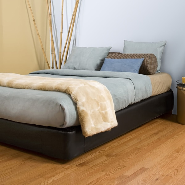Shop Queen Size Black Platform Bed Kit Free Shipping