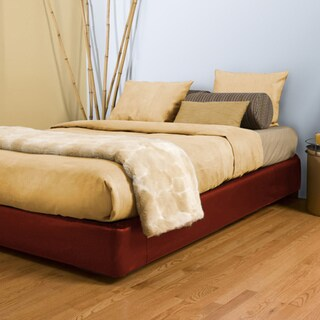 Queen-size Red Platform Box Spring Cover and Leg Kit
