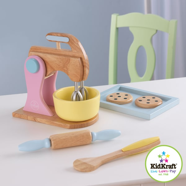 kidkraft pastel cookie baking set with rolling pin and. Black Bedroom Furniture Sets. Home Design Ideas