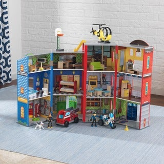 Link to KidKraft Everyday Heroes Police and Fire Play Set Similar Items in Play Sets