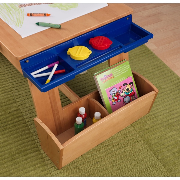 KidKraft Art Desk With Drying Rack And Storage   Free Shipping Today    Overstock.com   14668187
