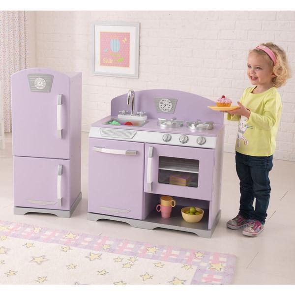 KidKraft Retro Kitchen And Refrigerator   Free Shipping Today    Overstock.com   14668197