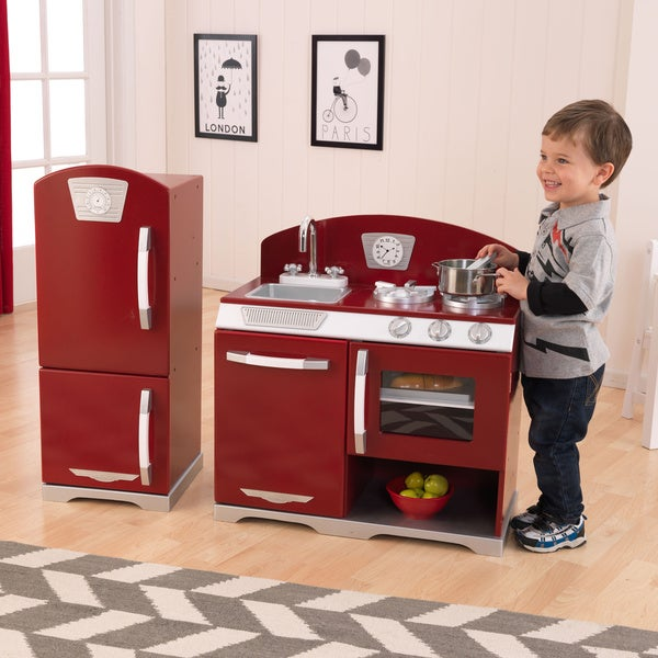 KidKraft Retro Kitchen And Refrigerator   Free Shipping Today    Overstock.com   14668197