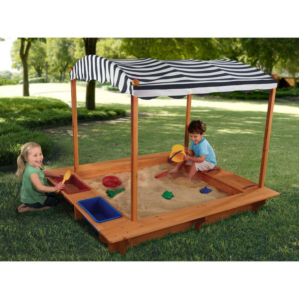 KidKraft Outdoor Sandbox with Canopy  sc 1 st  Overstock.com & KidKraft Outdoor Sandbox with Canopy - Free Shipping Today ...