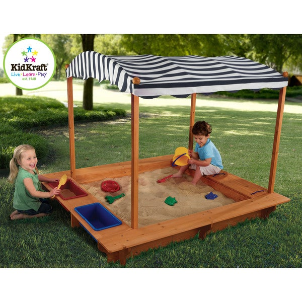 kidkraft outdoor sandbox with canopy free shipping today overstock