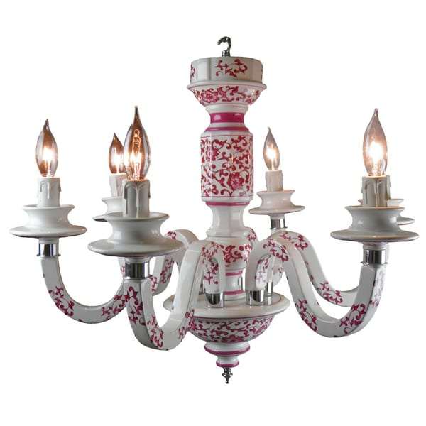 Maya 6-arm Ceramic Chandelier