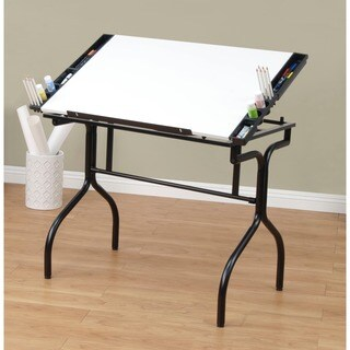 Studio Designs Black/White Foldable Drafting and Hobby Craft Station