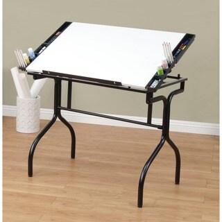 Studio Designs Black/White Futura Folding Drafting Table