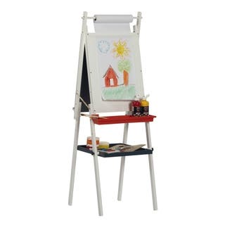 Studio Designs Kid's White Foldable Dual-sided Easel With Storage Tray|https://ak1.ostkcdn.com/images/products/7179481/P14668229.jpg?impolicy=medium