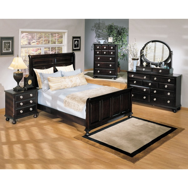 Amherst Espresso Finish King-size Bed