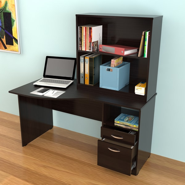 Inval Desk and Bookcase/ Hutch Set
