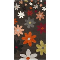 Safavieh Porcello Contemporary Daisies Brown/ Multi Rug - 2'7' x 5'
