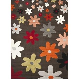 Safavieh Porcello Contemporary Daisies Brown Rug (4' x 5'7)