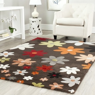 Safavieh Porcello Contemporary Daisies Brown/ Multi Rug (8' x 11'2)