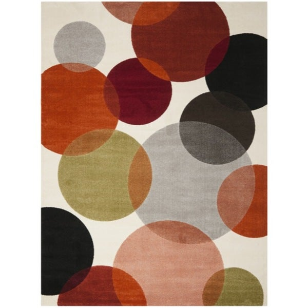 Safavieh Porcello Contemporary Bubbles Ivory Rug (5'3 x 7'7)