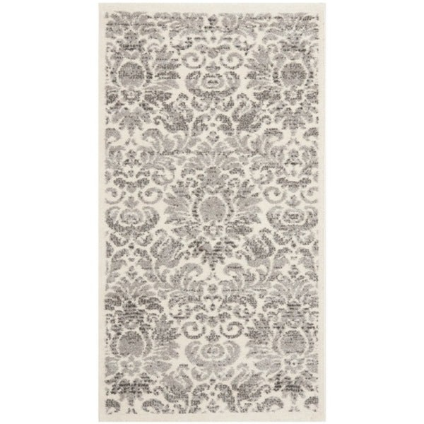 Safavieh Porcello Glam Damask Grey/ Ivory Rug (2' x 3'7)