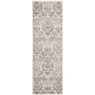 Safavieh Porcello Glam Damask Grey/ Ivory Runner Rug (2'4 x 6'7)