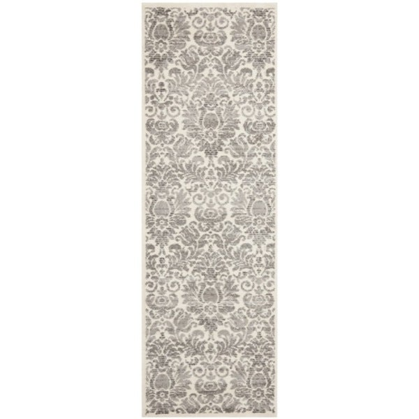 Safavieh Porcello Damask Grey/ Ivory Rug (2'4 x 6'7)