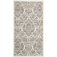 Safavieh Porcello Glam Damask Grey/ Ivory Rug (2'7 x 5')
